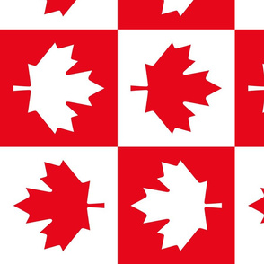 checkered maple leafs squares lg vertical || canada day canadian july 1st
