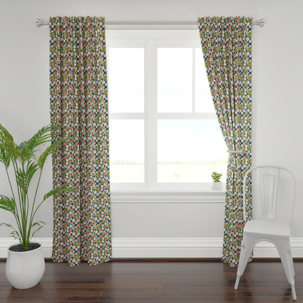 Plymouth Curtain Panel featuring Zucchini or the courgette C2 by denesannadesign