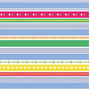 stripes with hearts pompom