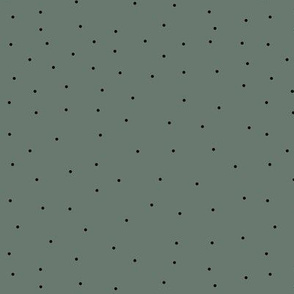 Corduroy Green Dots