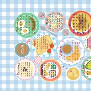 Breakfast Calendar Tea Towel 2021