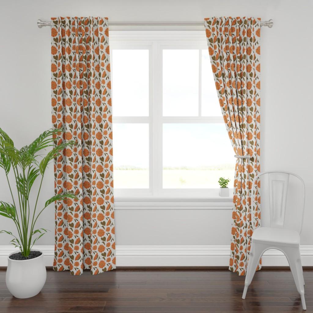 Plymouth Curtain Panel featuring Sunflower by denesannadesign