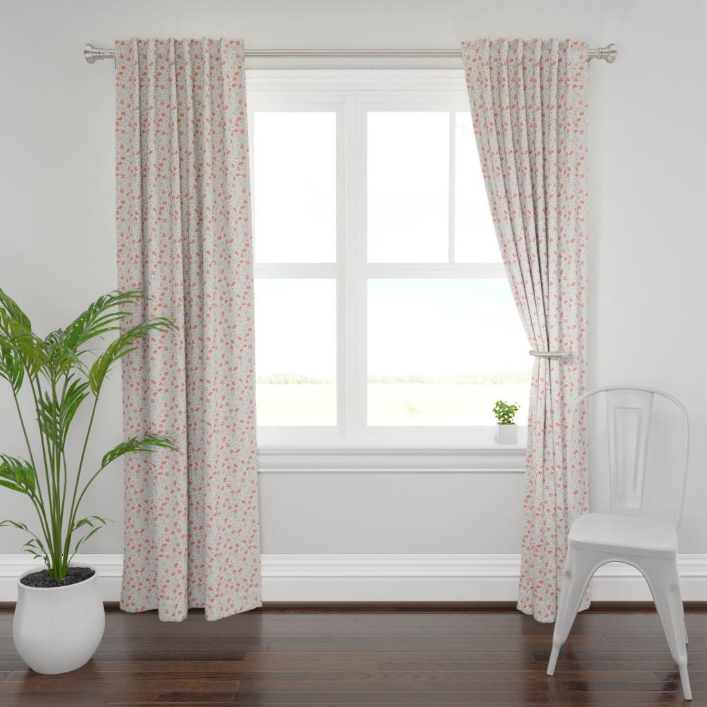 Plymouth Curtain Panel featuring Crocuses by denesannadesign