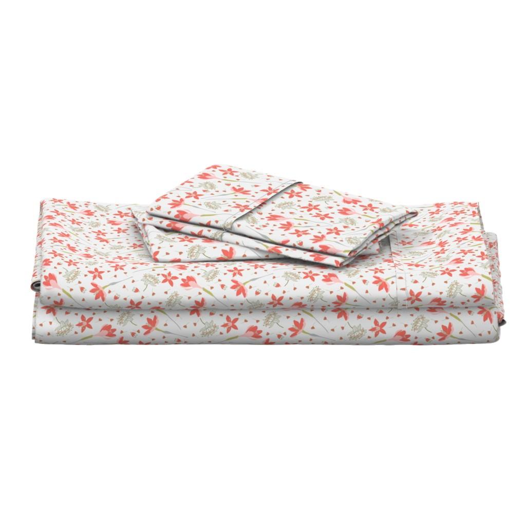 Langshan Full Bed Set featuring Crocuses by denesannadesign