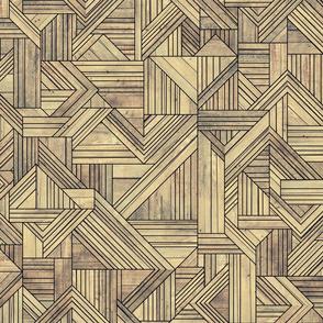 art deco wood