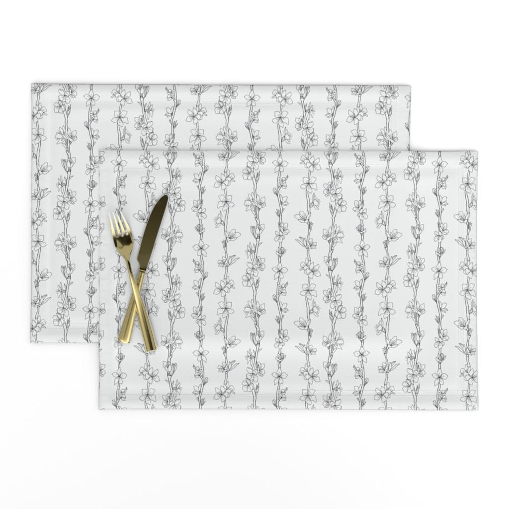 Lamona Cloth Placemats featuring Peach blossom by denesannadesign