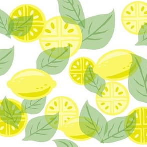 Yellow Lemons Overlay Pattern