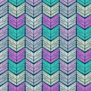 abstract doodle chevron texture