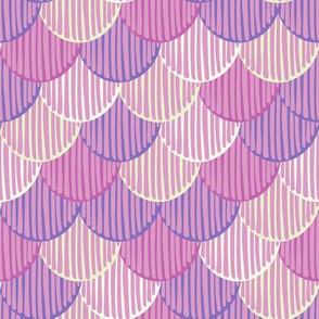 Purple abstract doodle fishscale