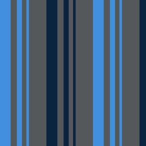The Red the Blue the Navy and the Gray: 2-Color Graduated Stripes on Dark Gray