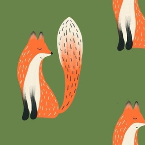Clever Woodland Fox in Evergreen