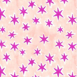 starry night - pink + peach