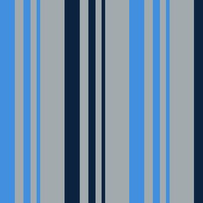 The Red the Blue the Navy and the Gray: 2-Color Graduated Stripes on Light Gray