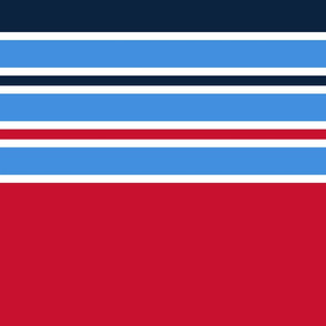 The Red the Blue the Navy and the Grays: Huge Horizontal Stripes