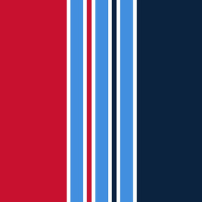 The Red the Blue the Navy and the Gray: Huge Vertical Stripes