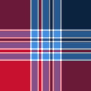 The Red the Blue the Navy and the Gray: Giant Plaid