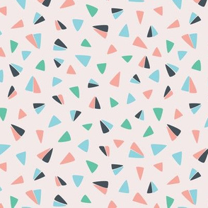 flying abstract paper airplane triangles