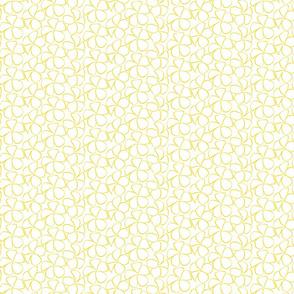 Sweet Frangipani - Yellow on White