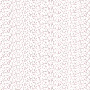 Sweet Frangipani - Salmon Pink on White