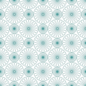 Spanish Tile - Sketchy Blooms
