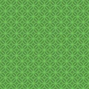 Geometric Pattern: Diamond Tile: Dark Green