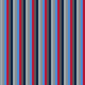 The Red the Blue the Navy and the Gray:All Color Little Stripes - Vertical