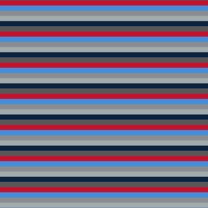 The Red the Blue the Navy and the Gray_All Color Little Stripes - Horizontal