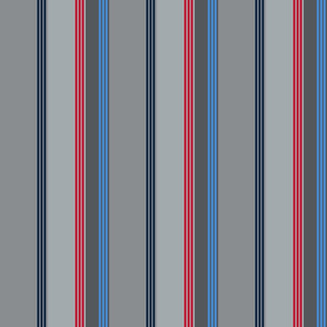 The Red the Blue the Navy and the Grays: Side-Striped Stripes - Vertical