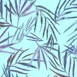Palm leaves on   • hand made watercolor