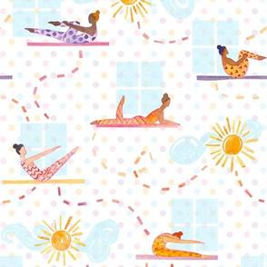Morning Pilates - Watercolor