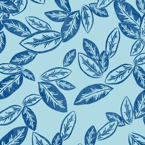 Leaf Garlands Ink on Sky 300