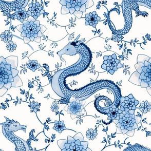 Cerulean Blue Dragons // large