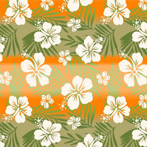 Hawaiian Tie Dye Blend Tropical Hibiscus - Khaki