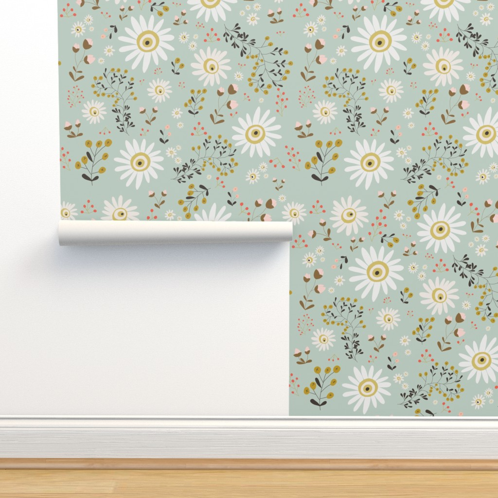 Isobar Durable Wallpaper featuring 01-gold-daisy by manuela_langella