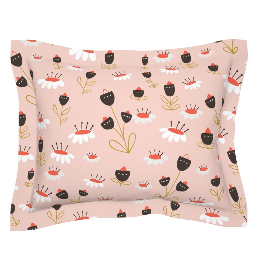 Sebright Pillow Sham featuring 04-orange-chocolate by manuela_langella