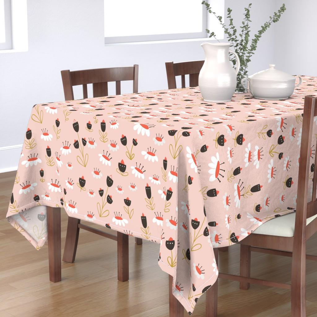 Bantam Rectangular Tablecloth featuring 04-orange-chocolate by manuela_langella