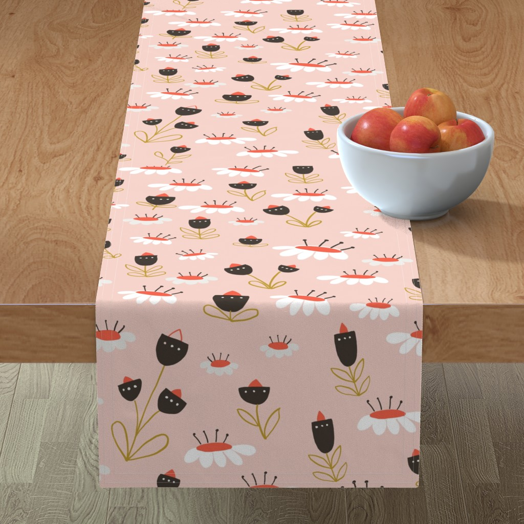 Minorca Table Runner featuring 04-orange-chocolate by manuela_langella