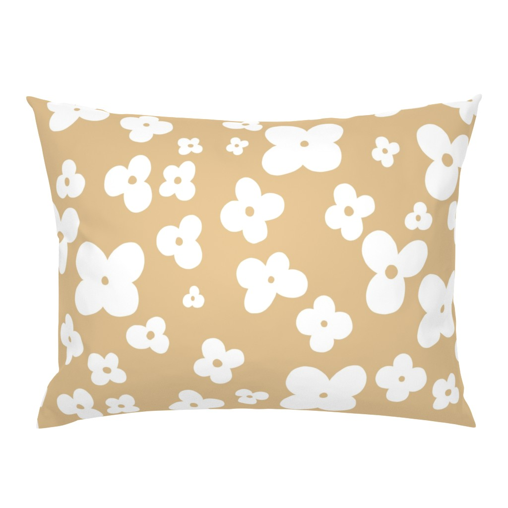 Campine Pillow Sham featuring 06-browny-meadow by manuela_langella