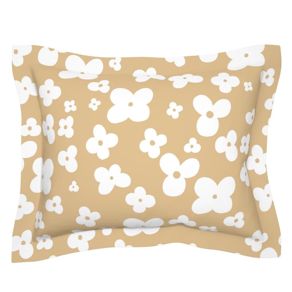 Sebright Pillow Sham featuring 06-browny-meadow by manuela_langella