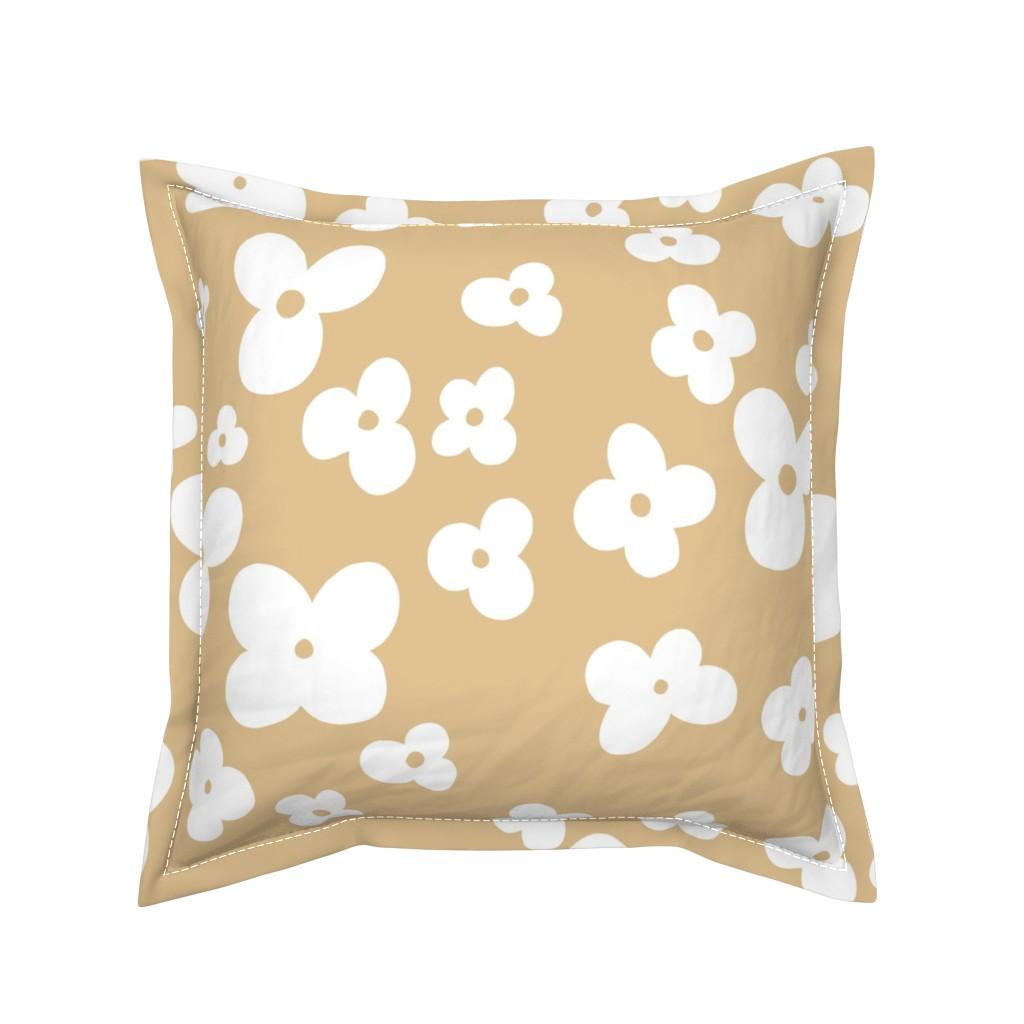 Serama Throw Pillow featuring 06-browny-meadow by manuela_langella