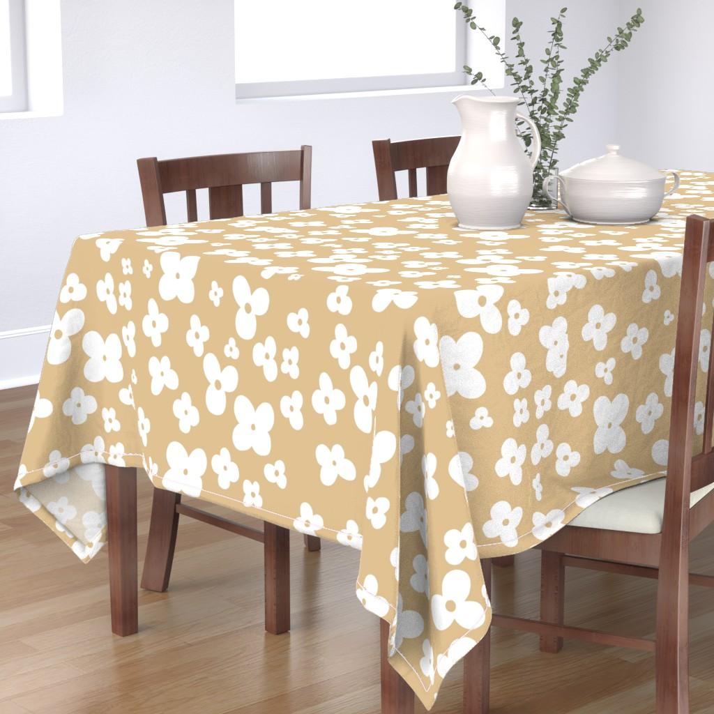 Bantam Rectangular Tablecloth featuring 06-browny-meadow by manuela_langella