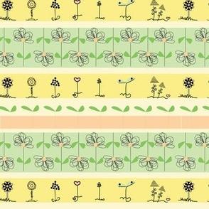 Pastel Flower Stripe