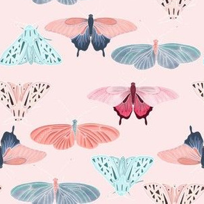 Pink butterfly friends