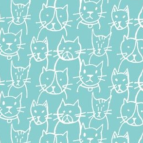 Here Kitty Kitty Turquoise