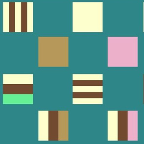Large square Liquorice Allsorts - summer colors