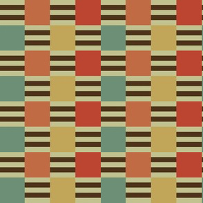 Liquorice Allsorts ribbon weave - Moroccan colors