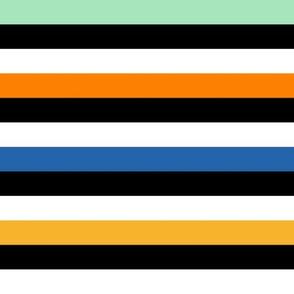 Liquorice Allsorts stripes - circus colors