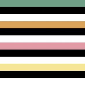 Liquorice Allsorts stripes - spring colors