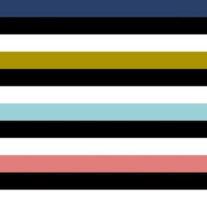 Liquorice Allsorts stripes - trendy colors