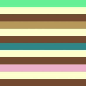 Liquorice Allsorts stripes - summer colors